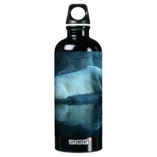 Polar Bear In Prayer 2 Water Bottle