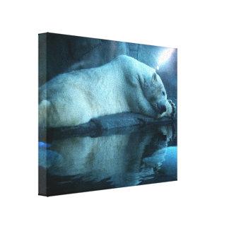 Polar Bear In Prayer 2 Wrapped Canvas