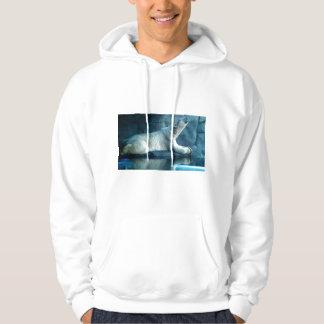 Polar Bear In Prayer Adult Hooded Sweatshirt