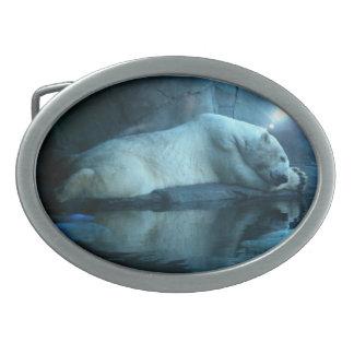 Polar Bear In Prayer Belt Buckle