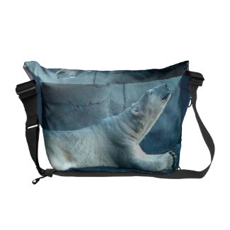 Polar Bear In Prayer Messenger Bag