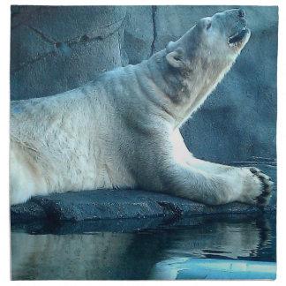 Polar Bear In Prayer Napkin