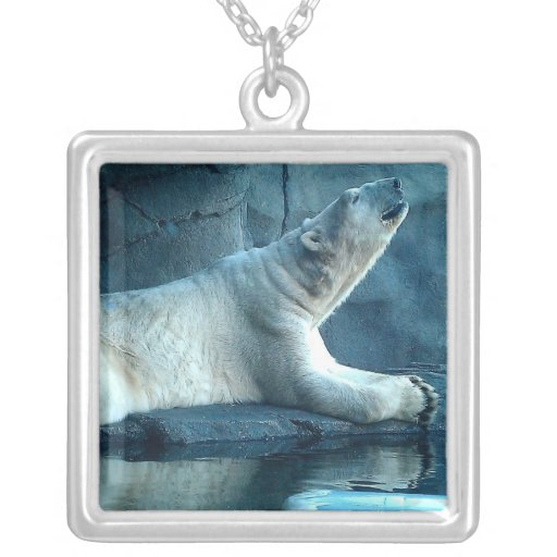 Polar Bear In Prayer Necklace
