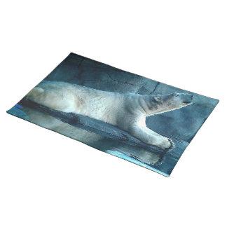 Polar Bear In Prayer Placemat Cloth Placemat