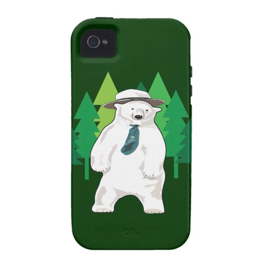 polar bear in the forest iPhone 4/4S cover