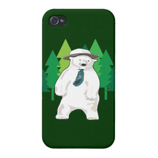 polar bear in the forest iPhone 4 case