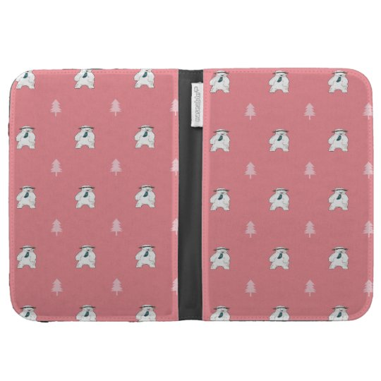 polar bear in the forest kindle folio case