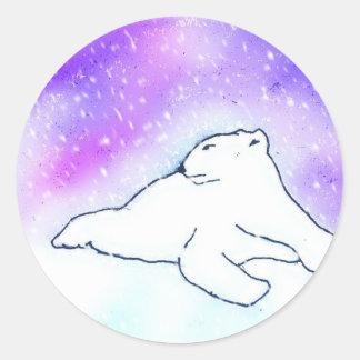 Polar Bear in the Snow ! (K.Turnbull Art) Classic Round Sticker