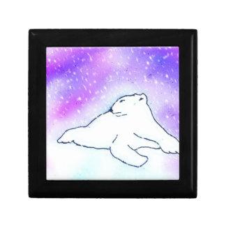 Polar Bear in the Snow ! (K.Turnbull Art) Keepsake Box