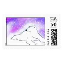 Polar Bear in the Snow ! (K.Turnbull Art) Postage