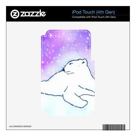 Polar Bear in the Snow ! (K.Turnbull Art) Skins For iPod Touch 4G