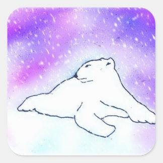 Polar Bear in the Snow ! (K.Turnbull Art) Square Sticker