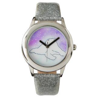 Polar Bear in the snow (K.Turnbull Art) Wristwatch