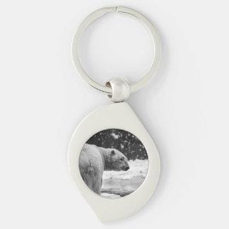 Polar Bear in the Snow Keychain