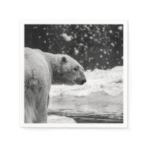 Polar Bear in the Snow Napkin