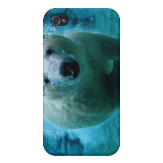 Polar Bear In Water Cases For iPhone 4