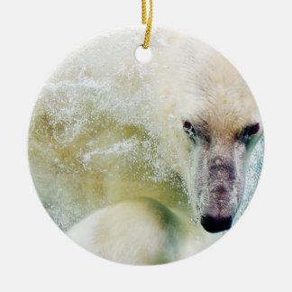Polar Bear In Water Ornaments