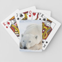 Polar Bear in winter Playing Cards