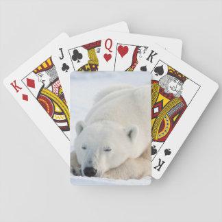 Polar Bear in winter Playing Cards