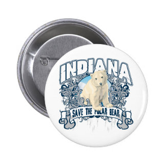 Polar Bear Indiana Pinback Button