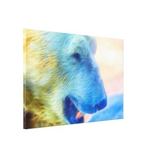 Polar Bear Inflamed Canvas Print