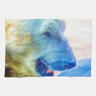 Polar Bear Inflamed Hand Towel