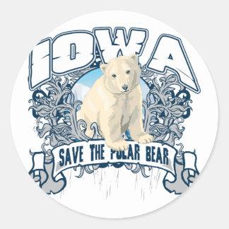 Polar Bear Iowa Sticker