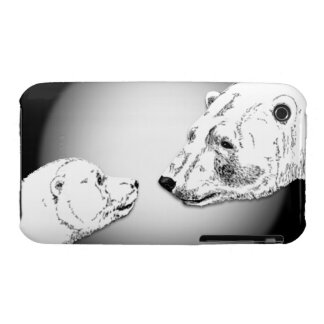 Polar Bear IPhone 3 Case Wildlife Art  Bear Gifts