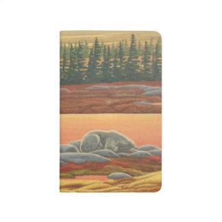 Polar Bear Journal Custom Autumn Bear Art Notebook