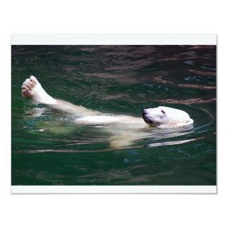 Polar bear just lazing card