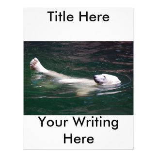 Polar bear just lazing flyer