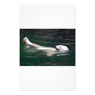 Polar bear just lazing stationery