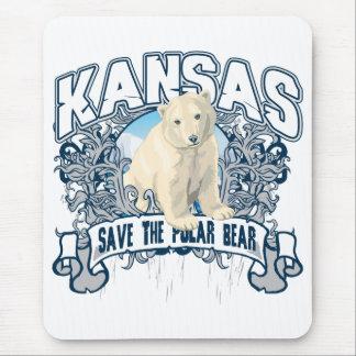 Polar Bear Kansas Mouse Pad
