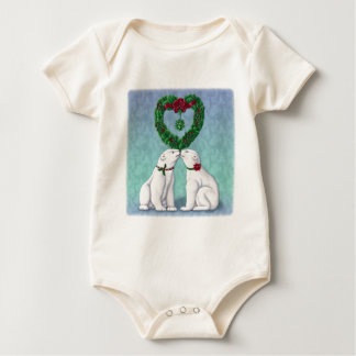 Polar Bear Kiss Baby Bodysuit