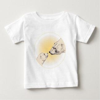 Polar Bear Kiss Baby T-Shirt Baby Wildlife Tees