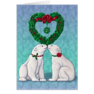 Polar Bear Kiss Card