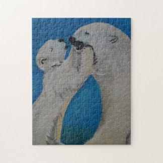 Polar Bear - Kiss Mummy, Mother, child, family Jigsaw Puzzle