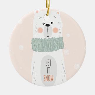 Polar bear - Let it snow - Christmas Ornament