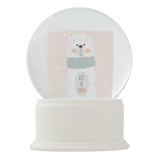 Polar bear - Let it snow - Christmas Snow Globe