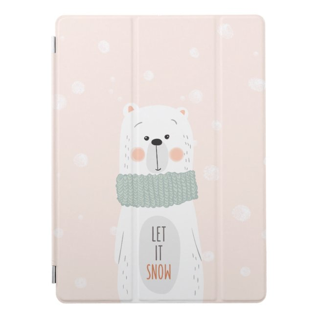 Polar bear - Let it snow - Cute Winter / Christmas