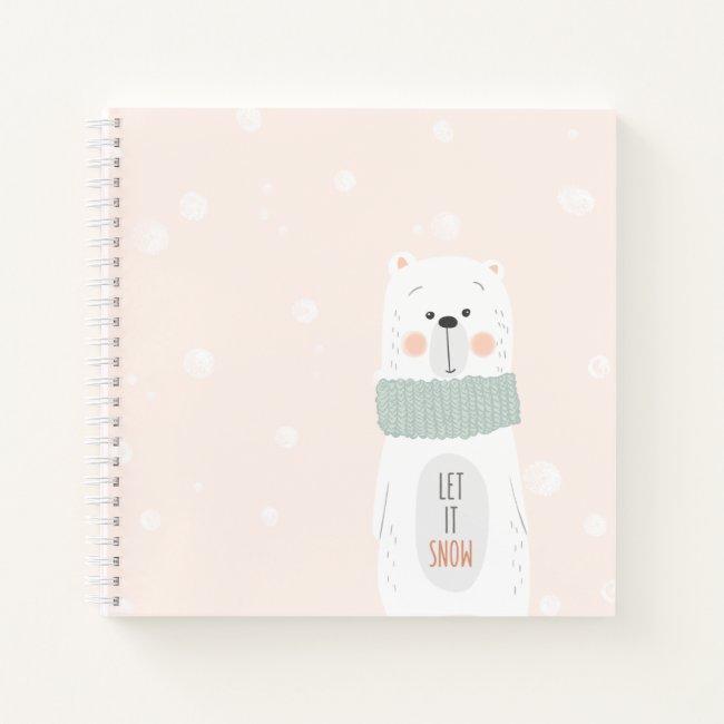 Polar bear - Let it snow - Cute Winter / Christmas