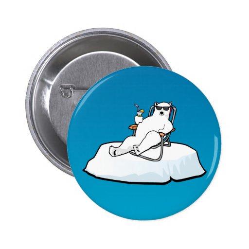 polar_bear_lounging 2 inch round button