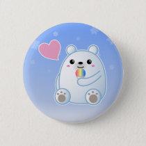 Polar Bear Love Button