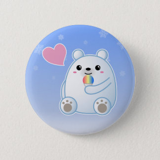 Polar Bear Love Button