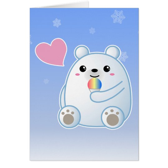Polar Bear Love Card