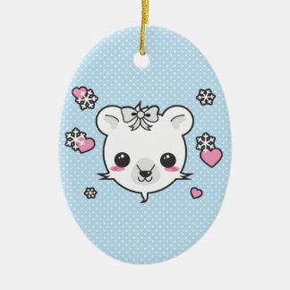 Polar Bear Love Ceramic Ornament