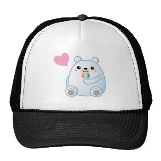 Polar Bear Love Mesh Hat