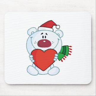 Polar Bear Love Holiday Mouse Pad
