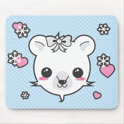 Polar Bear Love Mouse Pad