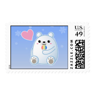Polar Bear Love Postage